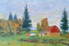Barn in Autumn web 24x18 Oil