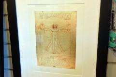 Vitruvian Man Framed Print web