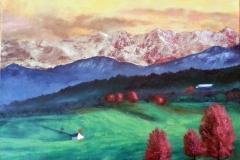Mountain Snow web 18x24 Oil