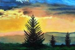 Sunrise Mountain 1 web 12 x16 Oil