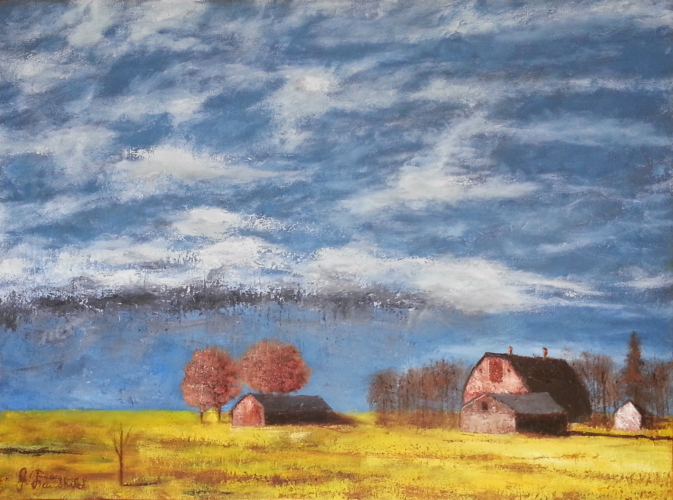 Approaching Rain – Oil on Canvas – $800.00