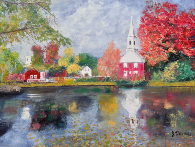 Autumn Reflections – Oil on Canvas – $600.00
