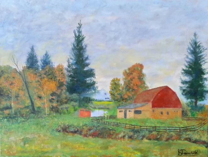 Barn in Autumn – Oil on Canvas – $960.00