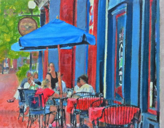 Coffee on Main Street – Oil on Canvas – $1,450.00