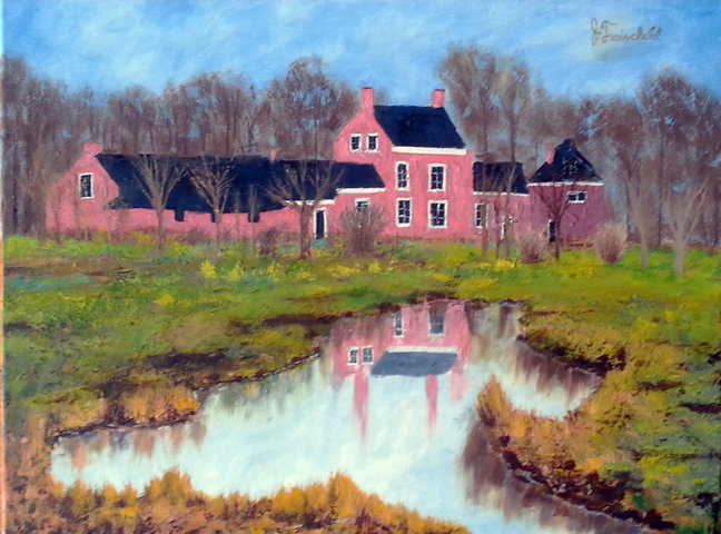 Country House – Oil on Canvas – $880.00