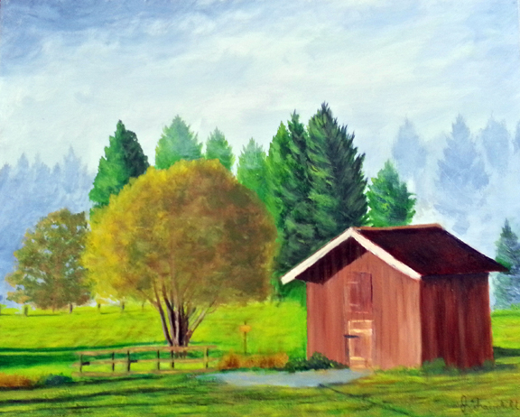 Country Morning – Oil on Canvas – $800.00