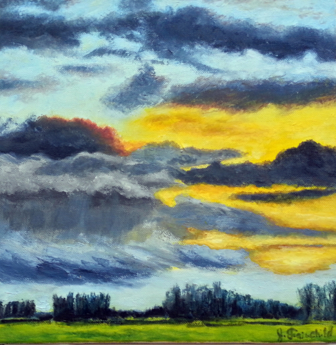 Morning Sky – Oil on Canvas – $300.00
