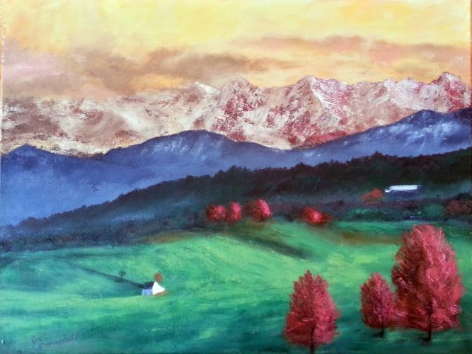 Mountain Snow – Oil on Canvas – $880.00