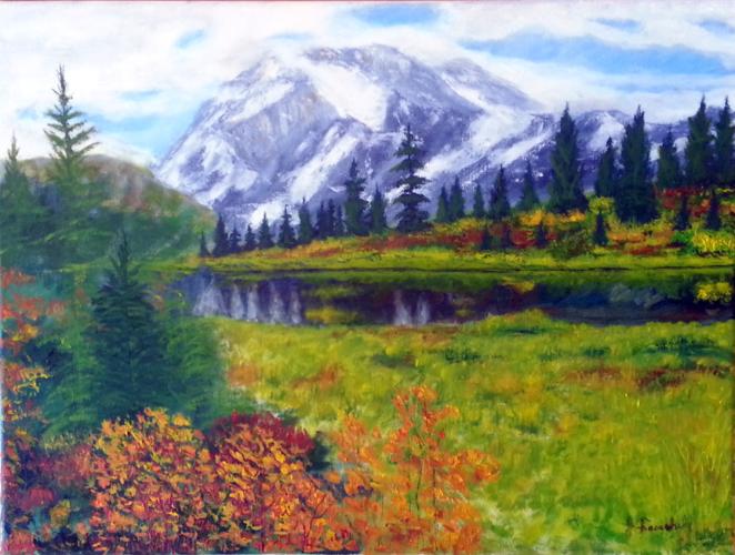 """Summer Scene - 18x24"""" Oil on Canvas- $400.00"""